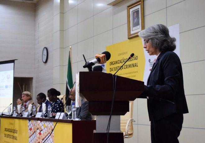 Conferência Organização e Gestão da Justiça Criminal - 28 de setembro 2017, PGR - Maputo   Embaixadora de Portugal em Maputo, Maria Amélia Paiva