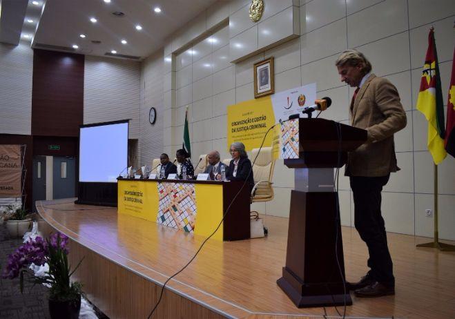 Conferência Organização e Gestão da Justiça Criminal - 28 de setembro 2017, PGR - Maputo  Representante da Delegação da União Europeia em Maputo, Geert Anckaert