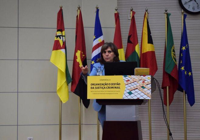 Conferência Organização e Gestão da Justiça Criminal - 28 de setembro 2017, PGR - Maputo   Conceição Gomes, Investigadora do CES e Coordenadora Executiva do Observatório Permanente da Justiça (PT)
