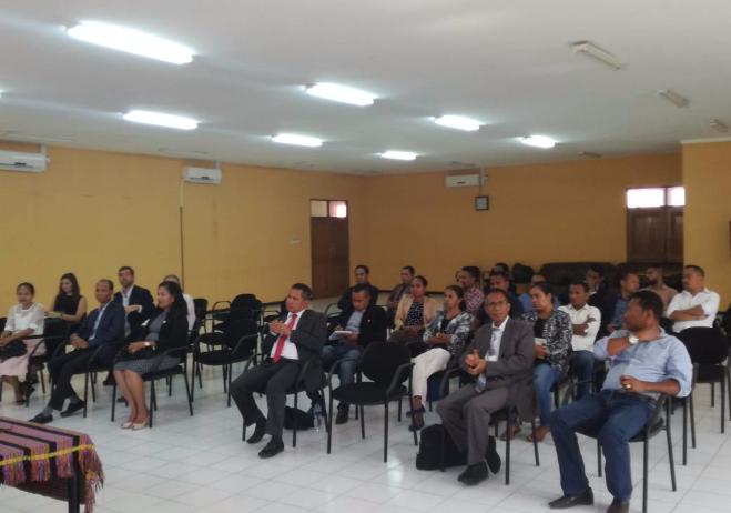 Formação nacional. Setembro 2017, Timor-Leste | Sessão de abertura