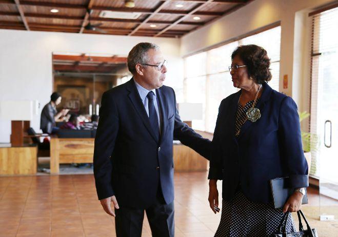 Encontro de conhecimento - 8 de março 2018, Díli   Juiz-Conselheiro José Mouraz Lopes, consultor científico do PACED; Ângela Carrascalão, Ministra da Justiça de Timor-Leste