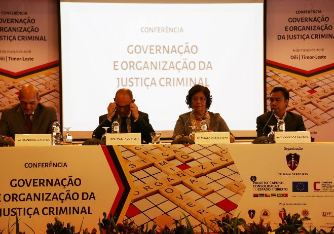 Conferência Governação e organização da justiça criminal - 6 de março 2018, Díli