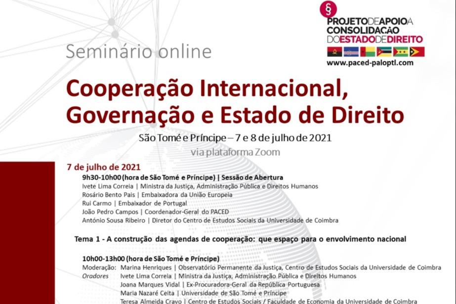 Seminário sobre Cooperação Internacional, Governação e Estado de Direito em São Tomé e Príncipe
