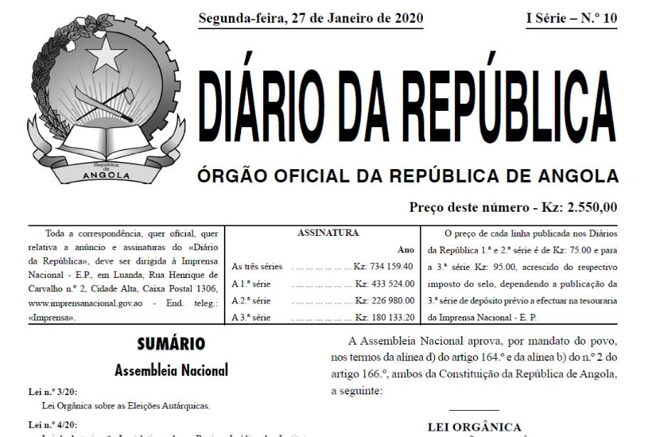 Angola aprova leis de Proteção de Testemunhas e de Combate ao Branqueamento de Capitais