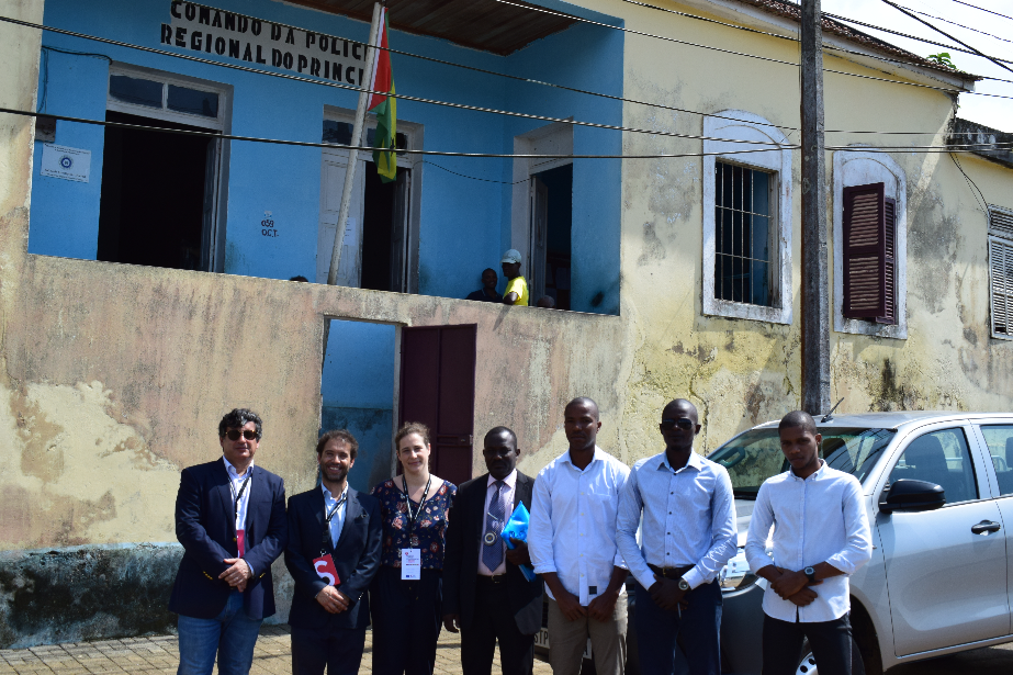 Equipa de Assistência Técnica do PACED visita instalações da Delegação da Polícia Judiciária da Região Autónoma do Príncipe
