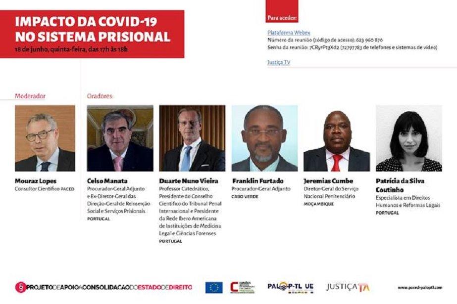 Ciclo de Conferências online: O IMPACTO DA COVID-19 NO SISTEMA PRISIONAL