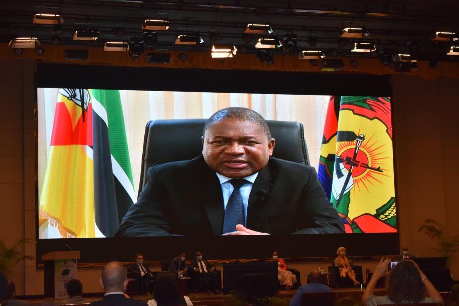 Presidente da República de Moçambique no lançamento do Comentário à Carta dos Direitos Humanos e dos Povos