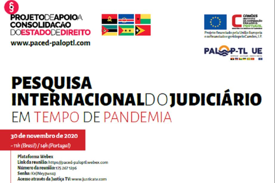 Seminário de Apresentação da Pesquisa Internacional do Judiciário em tempo de Pandemia