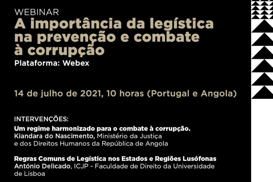 Webinar «A importância da legística na prevenção e combate à corrupção»