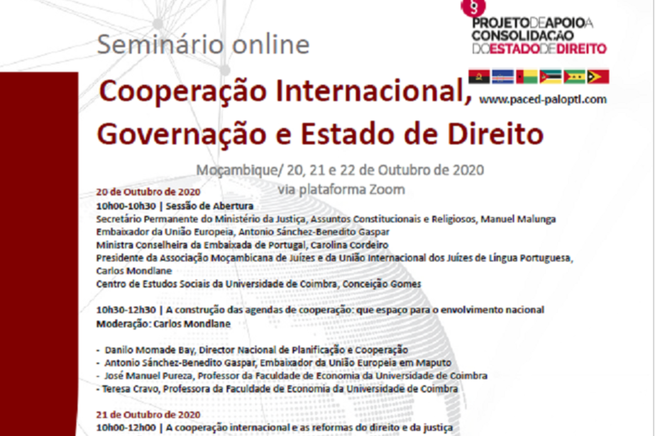 Seminário sobre Cooperação Internacional, Governação e Estado de Direito em Moçambique