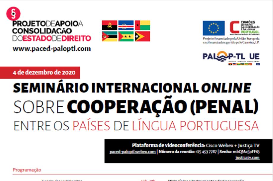 Seminário Internacional sobre Cooperação Penal entre os Países de Língua Portuguesa